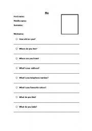 English Worksheets: Me (profile)