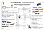 Describing people - character