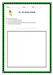 English Worksheets: Me, The Young Author!