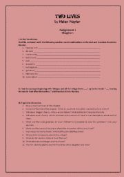 English Worksheets: Two lives by Helen Naylor (Assignments)