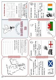 English Worksheet: U.K. Mini Book