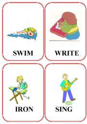 English Worksheets: set of action flashcards (2/2)