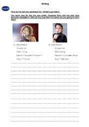 English worksheet: Writing