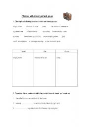 English Worksheets: taveling expressions