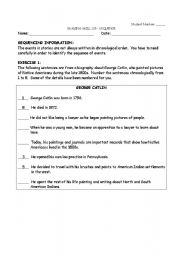 English Worksheets: Sequencing Information