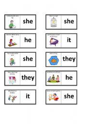 dominoes to practice using 3rd person singular dominoes to practice