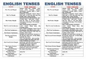 English Worksheet: Time phrases / adverbs of time in tenses