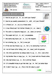 English Worksheets: quiz3