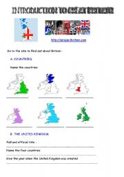 English Worksheet: webquest introduction to great britain