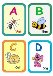 English Worksheet: Alphabet flash-cards