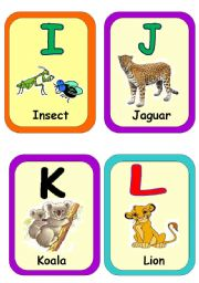 English Worksheet: Alphabet flash cards part 2