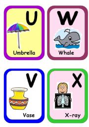 English Worksheet: Alphabet flash-cards part 3