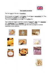 English Worksheet: The English breakfast
