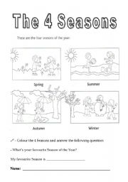 the 4 seasons of the year esl worksheet by santosnuno. Black Bedroom Furniture Sets. Home Design Ideas
