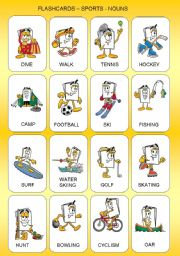 FLASHCARDS - SPORTS - NOUNS