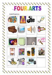 English Worksheets: Four arts