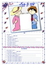 English Worksheets: Personal Information - This is Me