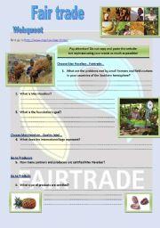 Fair trade - webquest +key