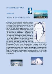 English Worksheet: Greenland expedition - webquest