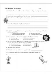 English Worksheets: The necklace Worksheet