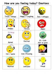 Feelings emotions simple flashcards to help teach feeling and emotions