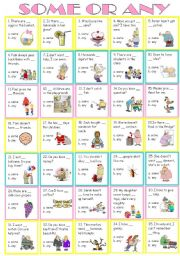 English Worksheets: Some or Any