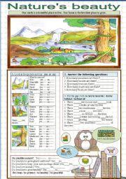 English Worksheets: Environment / nature�s beauty