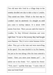 English Worksheets: Jigsaw Reading