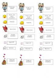 English Worksheets: encouragement cards