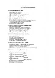 English Worksheets: The various uses of rather