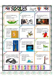 English Worksheets: SIMILES PART 1/4