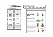 English Worksheets: Comparisons
