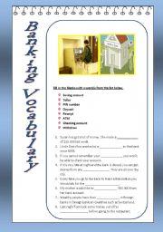 English Worksheet: Banking Vocabulary
