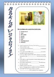 English Worksheets: Banking Vocabulary