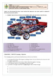 English Worksheets: THE ELECTRICAL SYSTEM OF CARS