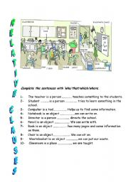 relative clause exercises