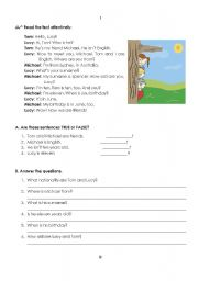 English Worksheets: test on personal identification