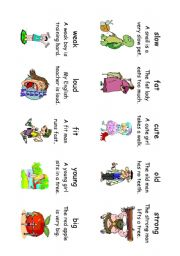 English Worksheet: Read! Spell! Do!  playing cards (30 cards) Adverbs and Adjectives