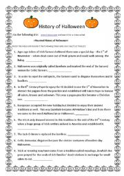 History of Halloween - worksheet by Ana Onofre Ataide