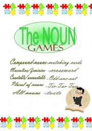 English Worksheets: the Noun - GAMES for REVISION