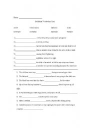 English worksheets: Stellaluna Vocabulary Quiz