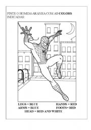 English Worksheet: Spiderman body