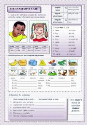 English Worksheets: The Possessive Case