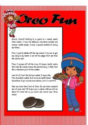 English Worksheets: Oreo Fun / Reading Comprehension