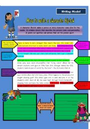English Worksheets: Writing Model
