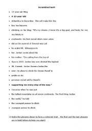 English Worksheets: Scrambled text!