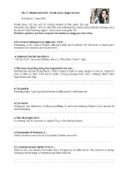 English Worksheet: Interview to Norah Jones