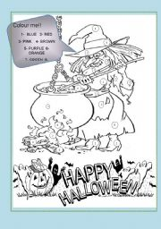 English Worksheets: HALLOWEEN WITCH