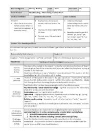 Lesson Plan and Worksheet -