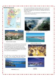 English Worksheet: what do you know about Argentina? 2